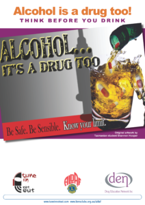Alcohol is a Drug Too Poster 1
